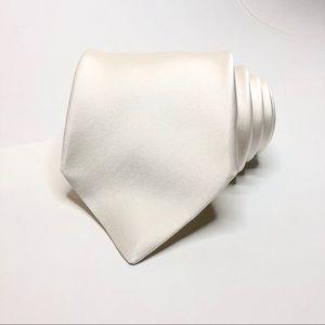 Brioni Cream Formal Silk Tie
